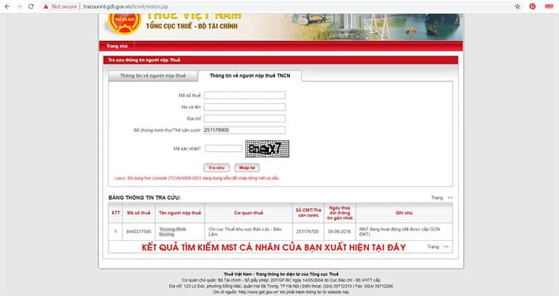Tra cứu mã số thuế cho người phụ thuộc